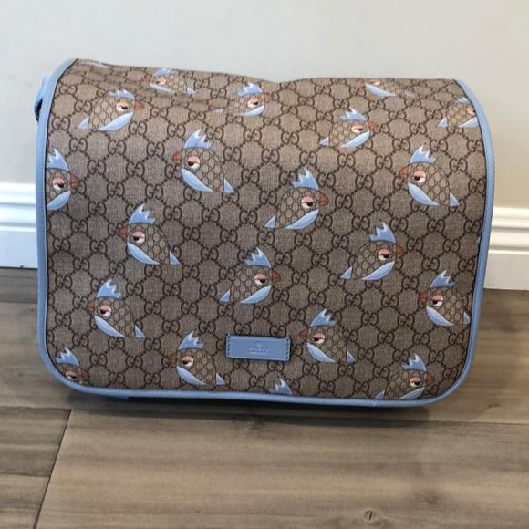 48bbd870793a Gucci Bags | Zoo Birds Diaper Bag Blue | Poshmark